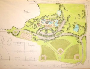Como Pool site plan